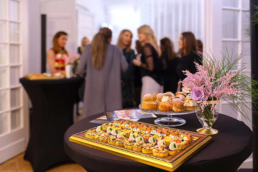 Corporate catering in an event party