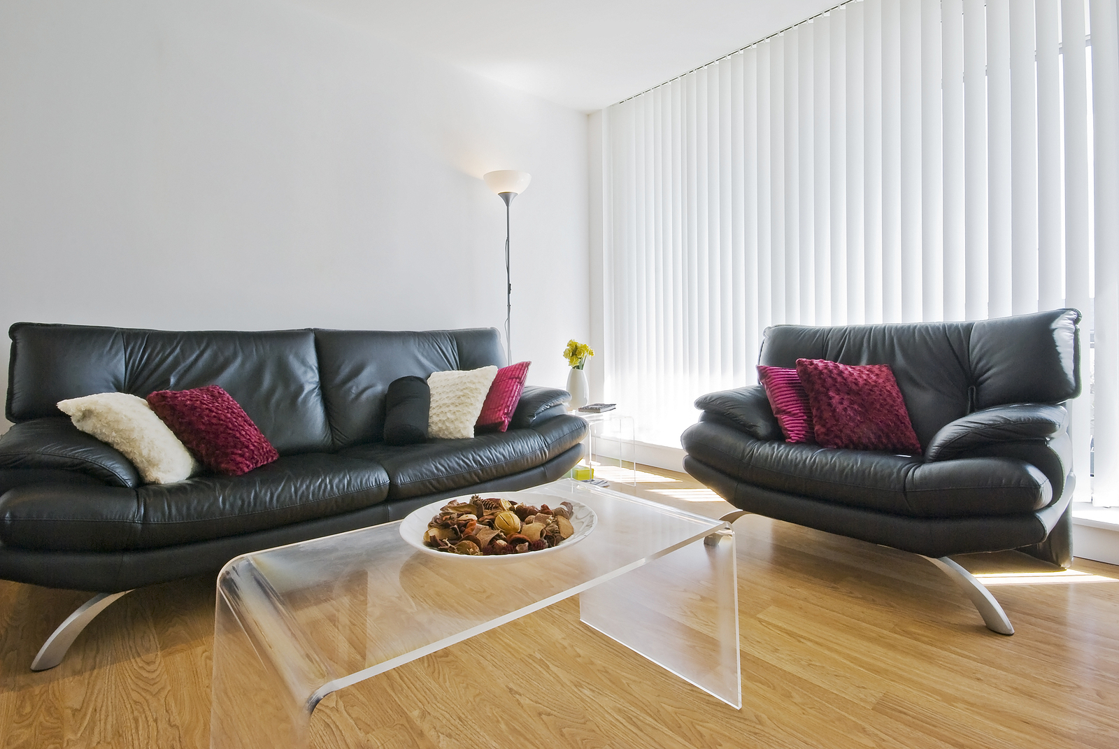Living are with timber floors